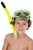 Child with diving mask Stock Photo