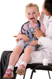 Child and doctor Stock Photo