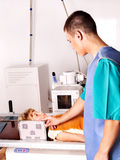 Child with doctor radiologist. Stock Photography