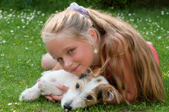 Child with dog Stock Photography