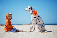 Child with dog Stock Photos