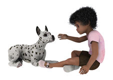 Child and Dog Royalty Free Stock Images