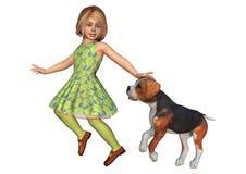 Child and Dog Stock Image