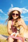 Child and dog Stock Photos