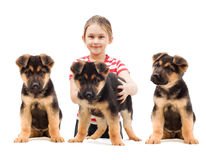 Child with  Dog Royalty Free Stock Photography