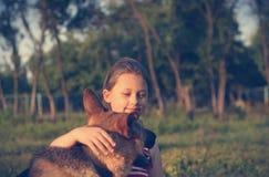 Child and dog Royalty Free Stock Photo