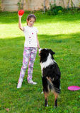 Child and a dog Royalty Free Stock Images