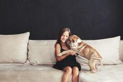 Child with dog Stock Image