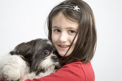 Child with dog pet Royalty Free Stock Images