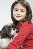 Child with dog pet Royalty Free Stock Image