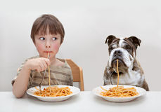 Child and dog Royalty Free Stock Photo