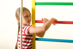 Child doing exercise Royalty Free Stock Photography