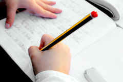 Child doing home work Royalty Free Stock Photography