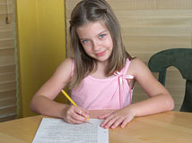 Child Doing Homework Royalty Free Stock Photography