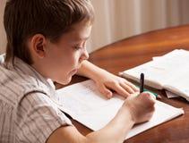 Child doing homework Royalty Free Stock Photography