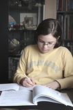 Child doing homework Royalty Free Stock Photo