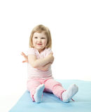 Child doing sport exercises Stock Photography