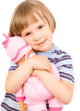 Child with a doll Stock Photos