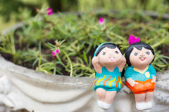 Child doll. A child dolls feeling happy Stock Photography