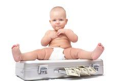 Child & dollar Stock Image