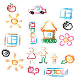 Child draw Stock Images