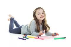 Child draw Royalty Free Stock Photo
