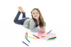 Child draw Stock Image