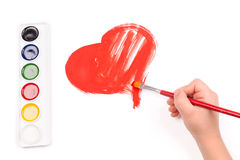 Child draw a heart Stock Photography