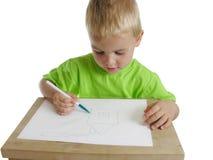 child draw home Στοκ Φωτογραφίες