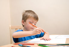 Child Drawing. Stock Image