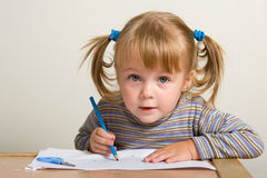 Child drawing Stock Image