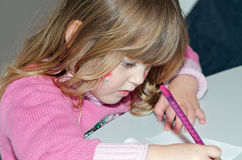 Child drawing Royalty Free Stock Photos