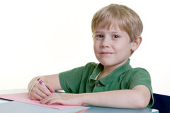 A child drawing Royalty Free Stock Photos