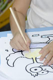 Child drawing Royalty Free Stock Photo