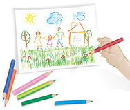 Child drawing Stock Photos