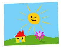 Child drawing  illustration Royalty Free Stock Image