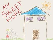Child drawing illustration stock photos