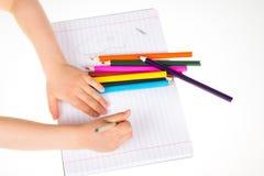 Child drawing Stock Image