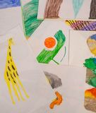 Child drawings stock image