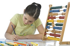 Child draws Stock Photography