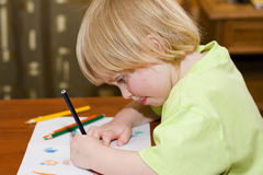 Child draws Stock Image