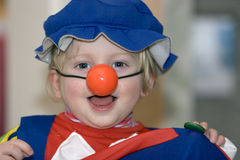 Child dressed as Clown Stock Photo