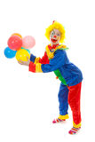 Child dressed as colorful funny clown Royalty Free Stock Images
