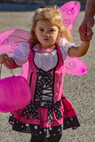 A Child Dressed as a Fairy at Pumpkinfest Stock Photo