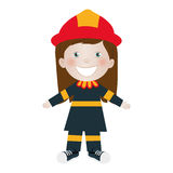 Child dressed as firefighter icon image Royalty Free Stock Photos