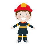 Child dressed as firefighter icon image Royalty Free Stock Image