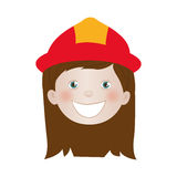 Child dressed as firefighter icon image. Vector illustration design Stock Photos