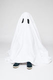 Child dressed as a ghost for halloween Royalty Free Stock Photography