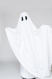 Child dressed as a ghost for halloween Royalty Free Stock Images
