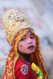 A child dressed as a goddess Stock Images